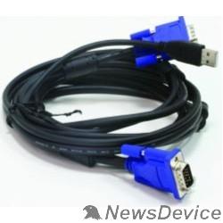 Переключатель D-Link DKVM-CU3/B1A Кабель KVM длиной 3 м с разъемами VGA и USB