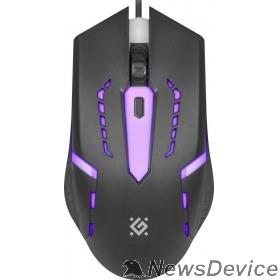 Мышь Defender Flash MB-600L 52600 Проводная оптическая мышь, 7 цветов, 4 кнопки, 800-1200dpi