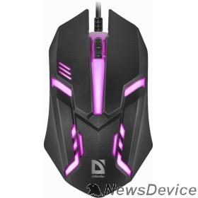 Мышь Defender Cyber MB-560L 52560 Проводная оптическая мышь, 7 цветов, 3 кнопки,1200dpi, черный