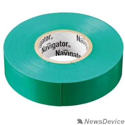 Navigator Скобы пластиковые Navigator 71106 Изолента NIT-B15-20/G зелёная