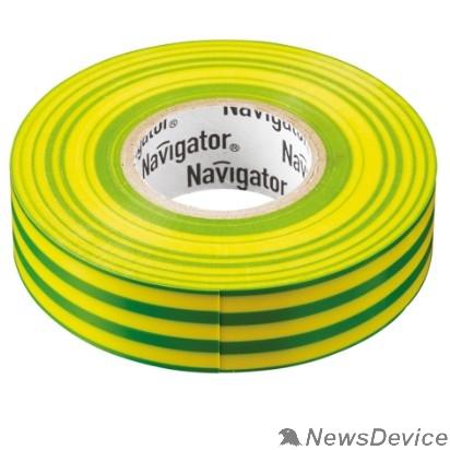 Navigator Скобы пластиковые Navigator 71108 Изолента NIT-B15-20/YG жёлто-зелёная