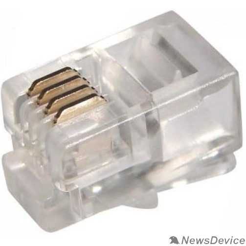Коннектор 5bites US010A Коннектор 5bites US010A RJ-11 / 4P4C / 100ШТ