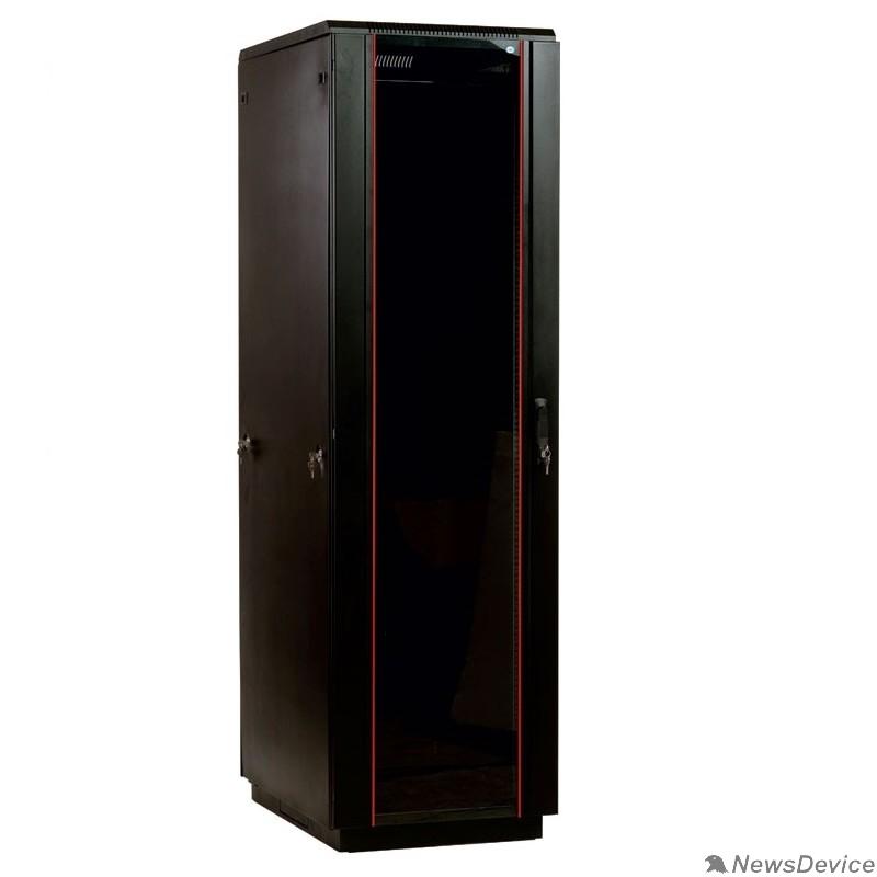 Монтажное оборудование ЦМО Шкаф телекоммуникационный напольный 42U (800x800) дверь стекло, черный (ШТК-М-42.8.8-1ААА-9005) (3 коробки)