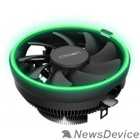 вентилятор CROWN Кулер для процессора CM-1152PWM GREEN (Сокет AM4 Ready, 115X, 775, TDP до 115 Ватт, коннектор 4pin PWM, Зелёная подсветка, Размер: 126(L)*126(W)*70(H)мм)
