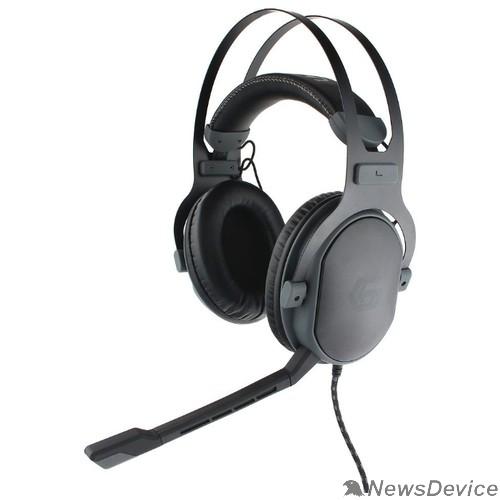 Наушники Gembird MHS-G700U, черн, мембрана 53мм, метал корпус, рег громкости, каб ткан 2.5м
