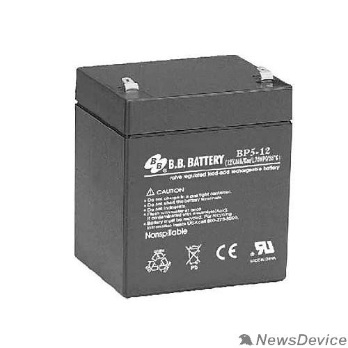батареи B.B. Battery Аккумулятор BP5-12 (12V 5Ah)