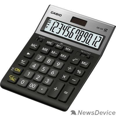 Калькулятор Калькулятор настольный CASIO GR-120 черный Калькулятор, 12-разрядный 1086913