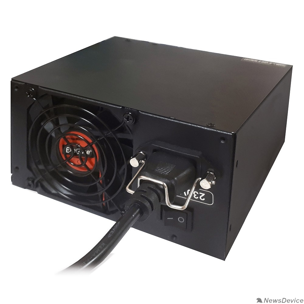 Блоки питания Exegate EX259612RUS-S Блок питания 650PPX RTL, ATX, SC, black, APFC, 14cm, 24p+(4+4)p, PCI-E, 5SATA, 4IDE, FDD + кабель 220V с защитой от выдергивания
