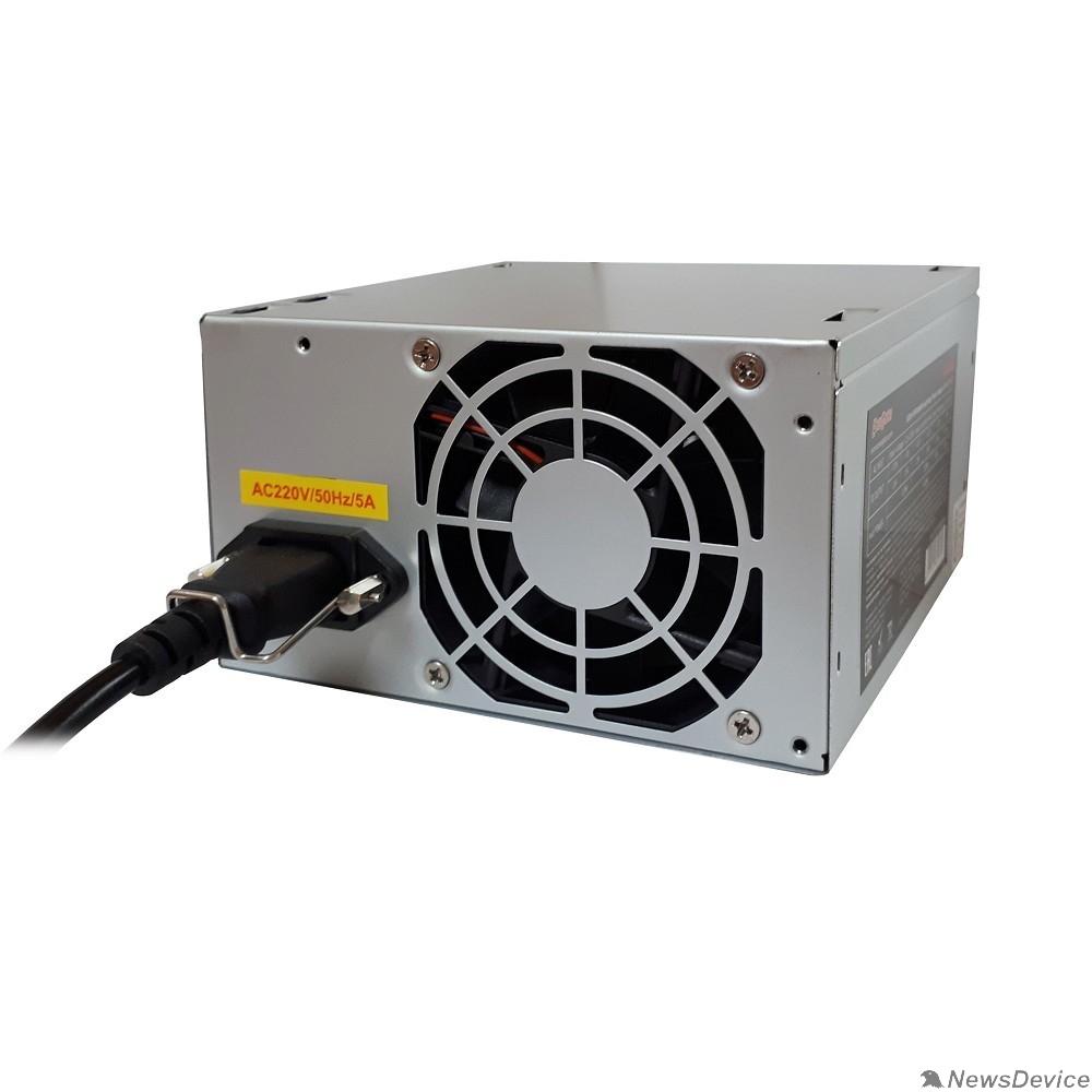 Блоки питания Exegate EX256711RUS-S Блок питания AA500, ATX, SC, 8cm fan, 24p+4p, 2*SATA, 1*IDE + кабель 220V с защитой от выдергивания