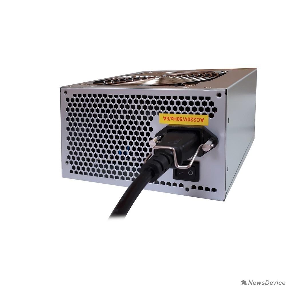 Блоки питания Exegate EX244555RUS-S Блок питания UN500, ATX, SC,12cm fan, 24p+4p, 6/8p PCI-E, 3*SATA, 2*IDE, FDD + кабель 220V с защитой от выдергивания