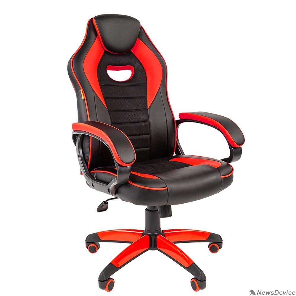 Офисные кресла Офисное кресло Chairman   game 16 Россия экопремиум черный/красный (7024557)