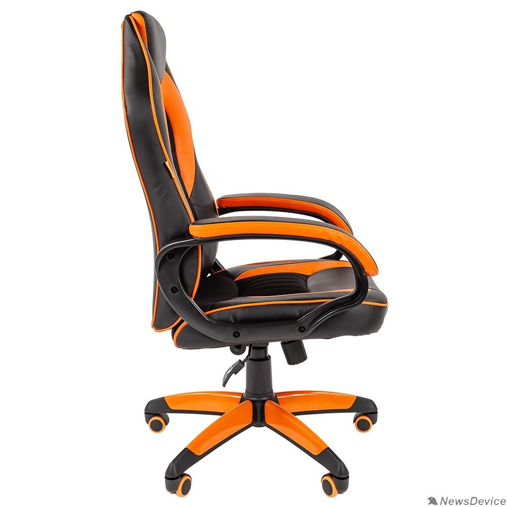 Офисные кресла Офисное кресло Chairman   game 16 Россия экопремиум черный/оранжевый (7024555)
