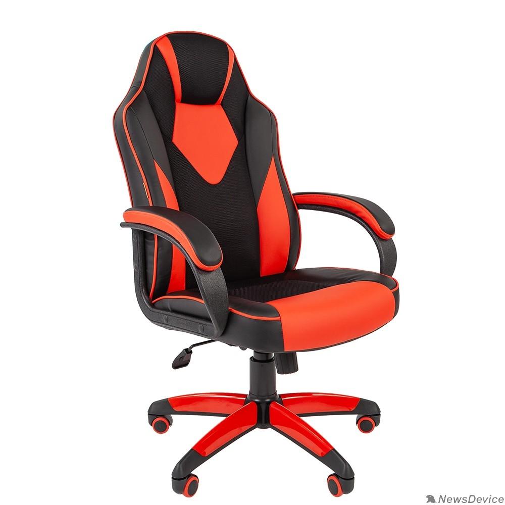 Офисные кресла Офисное кресло Chairman   game 17 Россия экопремиум черный/красный (7024560)