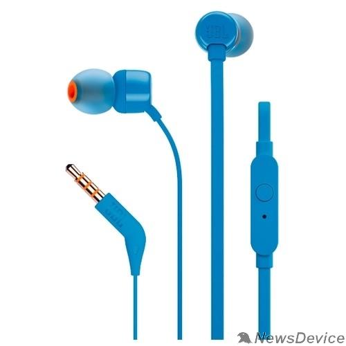 Наушники JBL T110 BLU 1.2м синий проводные