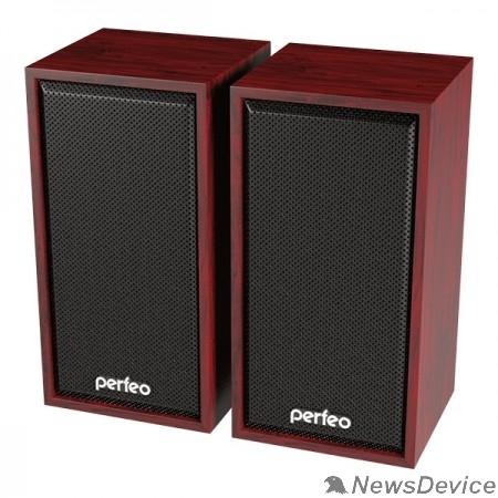 """Колонки Perfeo колонки """"CABINET"""" 2.0, мощность 2х3 Вт (RMS), махагон, USB"""