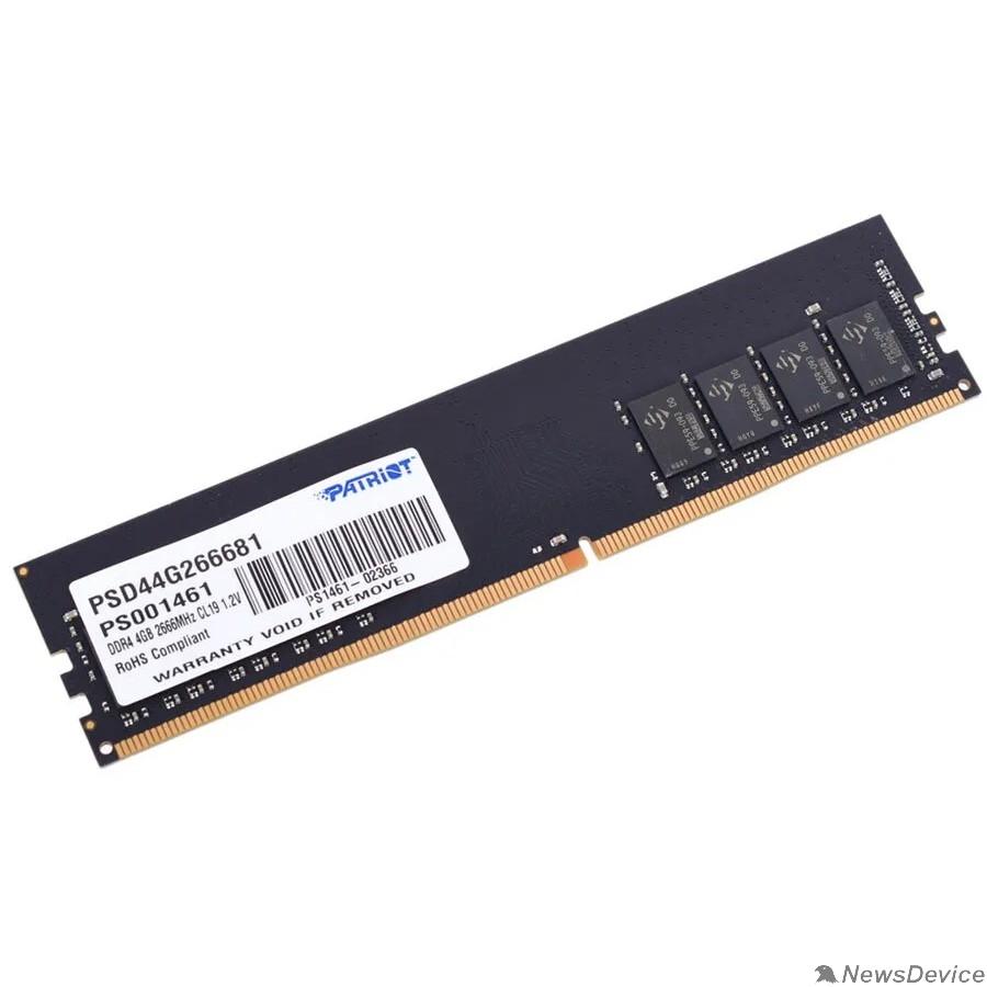 Модуль памяти Patriot DDR4 DIMM 4GB PSD44G266681 PC4-21300, 2666MHz