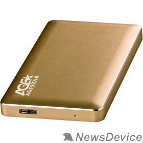 """Контейнер для HDD AgeStar 3UB2A16 (GOLD) USB 3.0 Внешний корпус 2.5"""" SATA, алюминий, золотой, безвинтовая конструкция"""