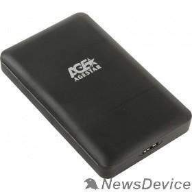 "Контейнер для HDD AgeStar 3UBCP3 (BLACK) USB 3.0 Внешний корпус 2.5"" SATAIII HDD/SSD USB 3.0, пластик, черный, безвинтовая конструкция"