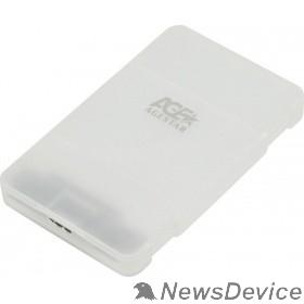 "Контейнер для HDD AgeStar 3UBCP3 (WHITE) USB 3.0 Внешний корпус 2.5"" SATAIII HDD/SSD USB 3.0, пластик, белый, безвинтовая конструкция"