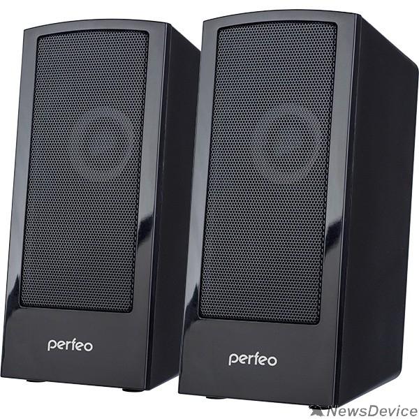"""Колонки Perfeo колонки """"CALIBR"""", 2.0, мощность 2х3 Вт, чёрн, USB"""