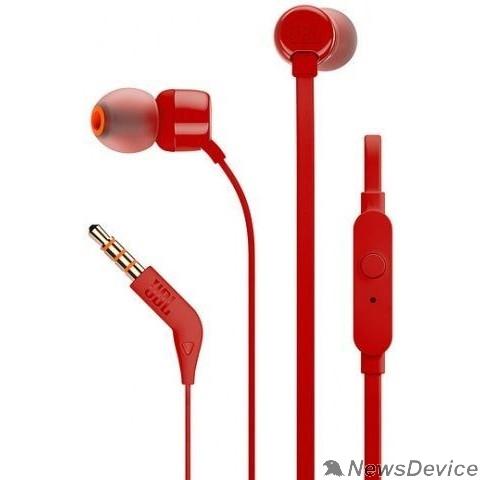 Наушники JBL TUNE110 Lifestyle 1.2м красный проводные (в ушной раковине)