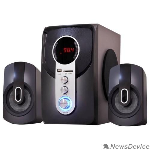 Колонки Ginzzu Ginzzu GM-405 2.1 с Bluetooth, выходная мощность 20Вт + 2х10Вт, аудиоплеер USB-flash, SD-card, FM-радио, пульт ДУ - 21 кнопка, стерео вход (2RCA), эквалайзер (обыч