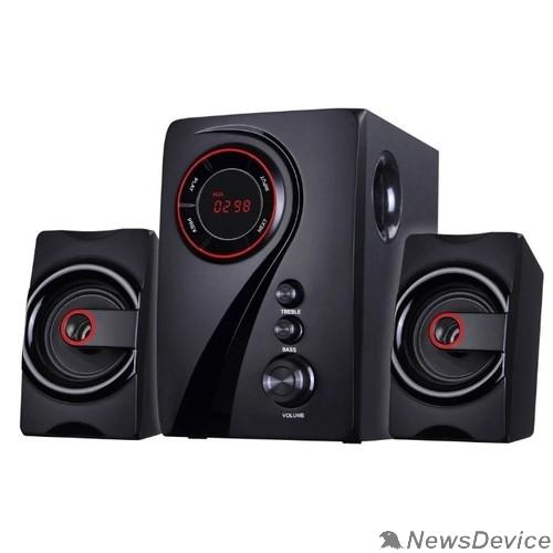 Колонки Ginzzu Ginzzu GM-406 2.1 с Bluetooth, выходная мощность 20Вт + 2х10Вт, аудиоплеер USB-flash, SD-card, FM-радио, пульт ДУ - 21 кнопка, стерео вход (2RCA), эквалайзер (обыч