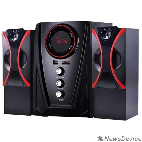Колонки Ginzzu Ginzzu GM-407 2.1 с Bluetooth, выходная мощность 20Вт + 2х10Вт, аудиоплеер USB-flash, SD-card, FM-радио, пульт ДУ - 21 кнопка, стерео вход (2RCA), эквалайзер (обыч