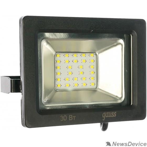 GAUSS Прожекторы светодиодные GAUSS 613100330 Прожектор светодиодный LED 30W 2100lm IP65 6500К черный 1/60