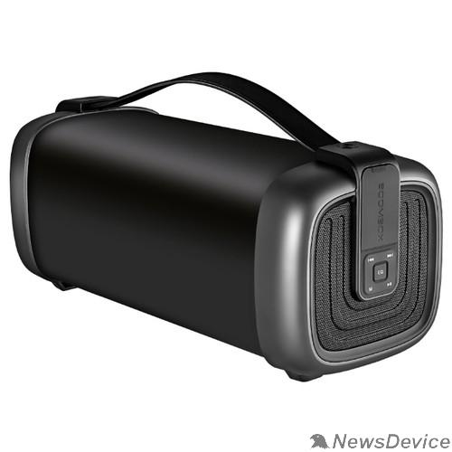 Колонки Ginzzu Ginzzu GM-878B (15Вт, 100Гц-20КГц, 3000мАч, AUX, microSD, USB-flash, FM-радио, Subwoofer, Эквалайзер, Защита от брызг, Ремень для переноски)