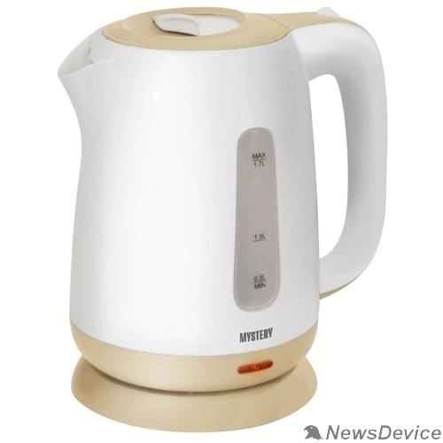Чайник MYSTERY MEK-1637 Чайник, Мощность: 1800Вт, Объём 1,7 л., Цвет: Белый/Бежевый