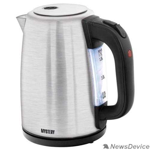Чайник MYSTERY MEK-1644 Чайник, Мощность: 2000 Вт, Объём: 1,8 л, Металлические корпус и крышка.