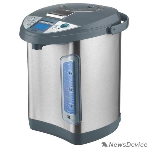 Чайник MYSTERY MTP-2453 Термопот, Мощность: 700 Вт, Объём: 4 л., LCD дисплей, Дополнительная механическая помпа, Металлический корпус, Цвет: Чёрный.