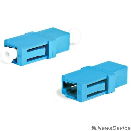 Монтажное оборудование Hyperline FA-P00Z-LC/LC-N/WH-BL Оптический проходной адаптер LC-LC, SM, simplex, корпус пластиковый, синий, белые колпачки