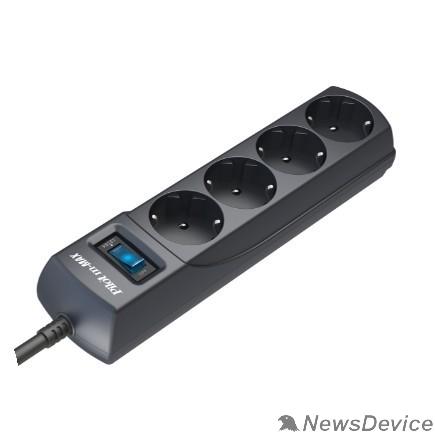 Сетевые фильтры ZIS Сетевой фильтр m Max 1.8m 4 розетки, увеличенная мощность 3300 Вт 1.8 м