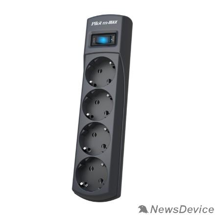 Сетевые фильтры ZIS Сетевой фильтр m Max 3m 4 розетки, увеличенная мощность 3300 Вт 3м