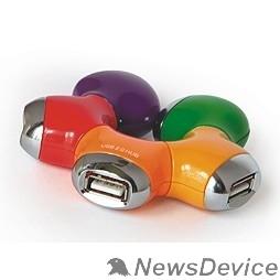 """Контроллер HUB USB 2.0 Konoos  UK-07 """"Цветок"""", 4 порта USB, блистер"""