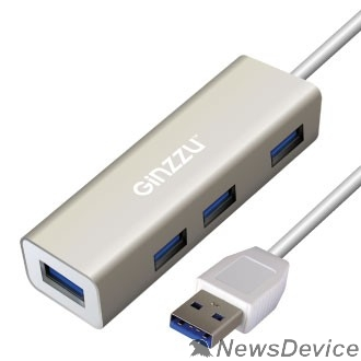 Контроллер HUB GR-517UB Ginzzu USB 3.0, 4 порта USB3.0, 20см кабель