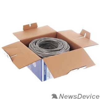 Кабель SkyNet Кабель UTP indoor 4x2x0,51, медный, FLUKE TEST, кат.5e, однож. (305м) box, серый CSP-UTP-4-CU