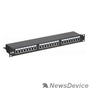 Патч-корды, Патч-панели ITK PP24-1UC5ES-D05 1U патч-панель кат.5Е STP, 24 порта (Dual), с кабельным органайзером