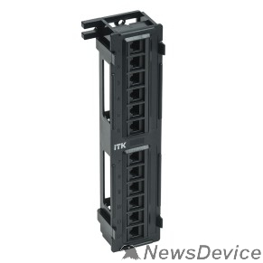 Патч-корды, Патч-панели ITK PP12-C5EU-D05 Настенная патч-панель кат.5Е UTP, 12 портов (IDC Dual)