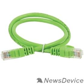 Патч-корды, Патч-панели ITK PC02-C5EU-1M Коммутационный шнур (патч-корд), кат.5Е UTP, 1м, зеленый