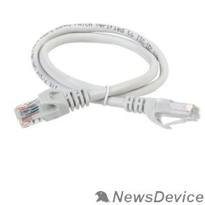 Патч-корды, Патч-панели ITK PC01-C6U-1M Коммутационный шнур (патч-корд), кат.6 UTP, 1м, серый