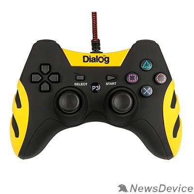 Геймпад Dialog Gan-Kata GP-A21, черный Геймпад, вибрация, 12 кнопок, PC USB/PS3, черный