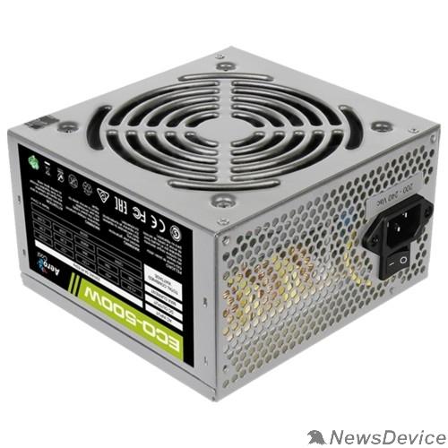 Блок питания Aerocool 500W Retail ECO-500W ATX v2.3 Haswell, fan 12cm, 400mm cable, power cord, 20+4P, 12V 4P, 1x PCI-E 6P, 3x SATA, 2x PATA, 1x FDD