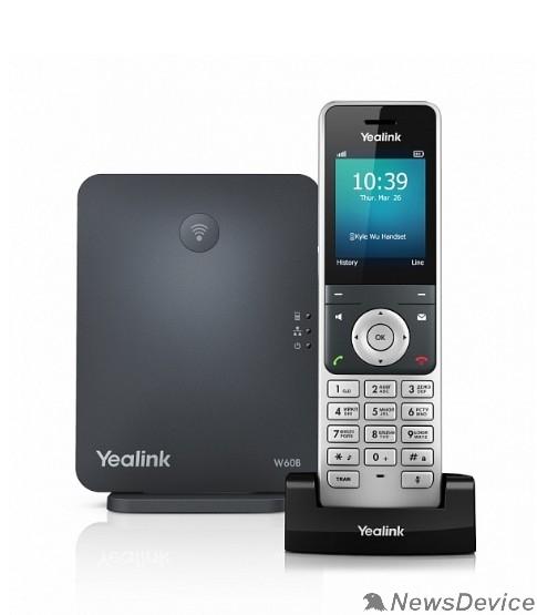 VoIP-телефон YEALINK W60P Беспроводной IP DECT телефон (трубка+база)