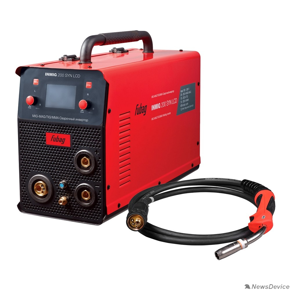 Сварочное оборудование, Инверторы FUBAG INMIG 200 SYN LCD (31435) Сварочный полуавтомат_инвертор + горелка (38443)