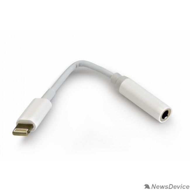 Переходник Cablexpert Переходник USB, Lightning/Jack3.5F, белый (CCA-LM3.5F-01-W)