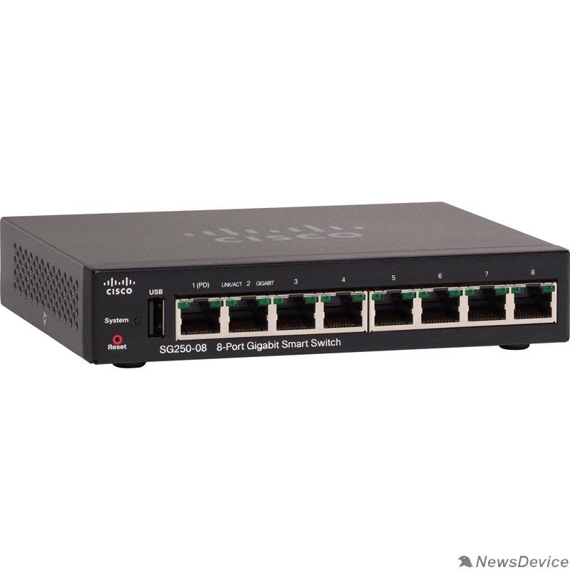 Сетевое оборудование Cisco SB SG250-08-K9-EU Коммутатор 8-Port Gigabit Smart Switch
