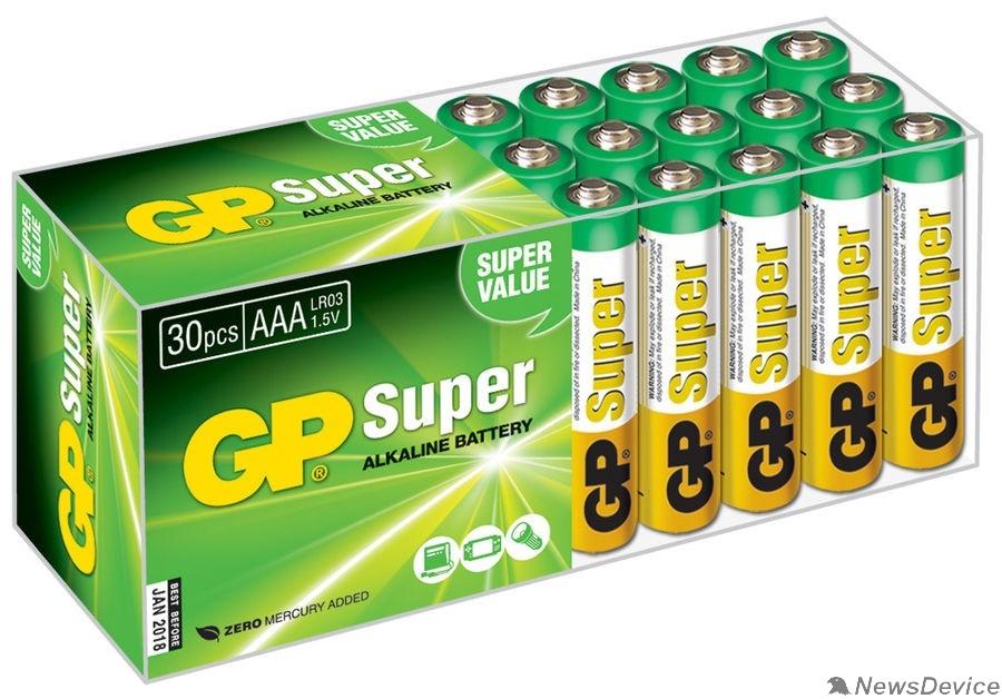 Батарейка GP Super Alkaline 24A LR03 AAA   (30 шт. в уп-ке) 10502